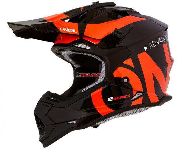 ONEAL Helm: 2Series, Slick, orange/schwarz