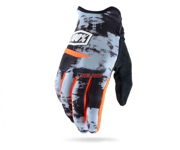 100% Handschuh: Ridecamp, grau/orange/schwarz