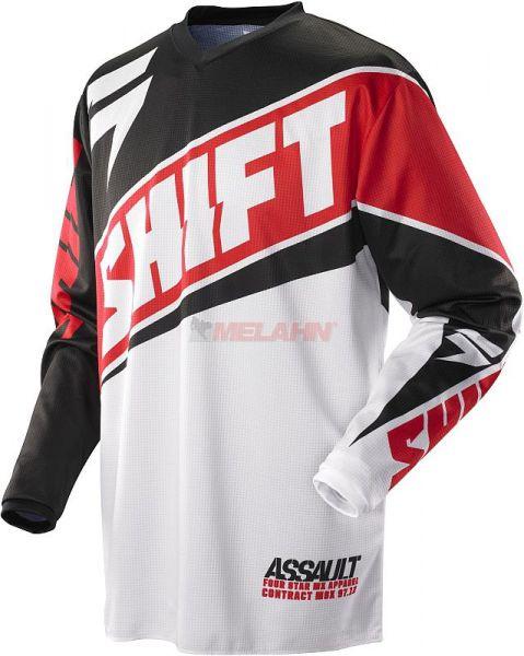 SHIFT Hemd: Assault Race, rot/weiß