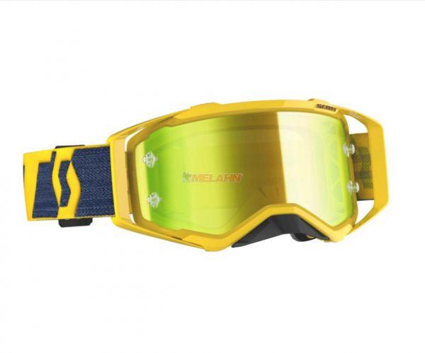 SCOTT Prospect Goggle Motocross MTB MX Enduro Cross Brille gelb-blau gelb verspiegelt