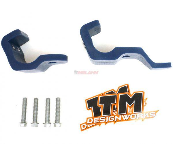 T.M. DESIGNWORKS Gabelfuß-Protektor (Paar) KTM 16- / HUSQVARNA 16- / SHERCO 17-, blau