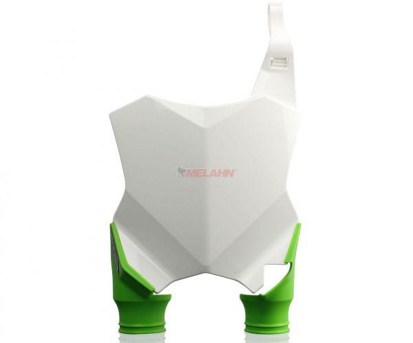 ACERBIS Starttafel: Raptor, weiß/grün, KXF 250 17- / 450 16-