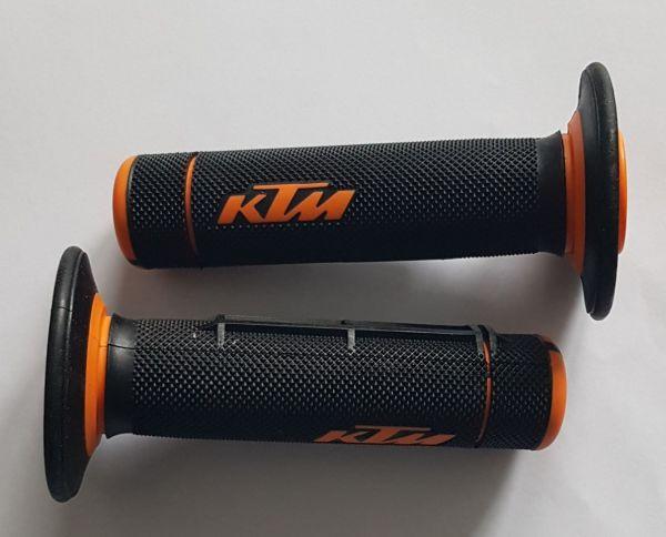KTM Griff (Paar): 2 Komponenten, schwarz/orange