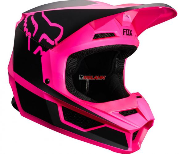 FOX YOUTH Helm: V1 Przm, pink/schwarz