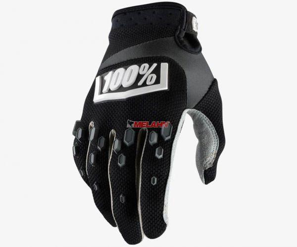 100% Kids Handschuh: Airmatic, schwarz