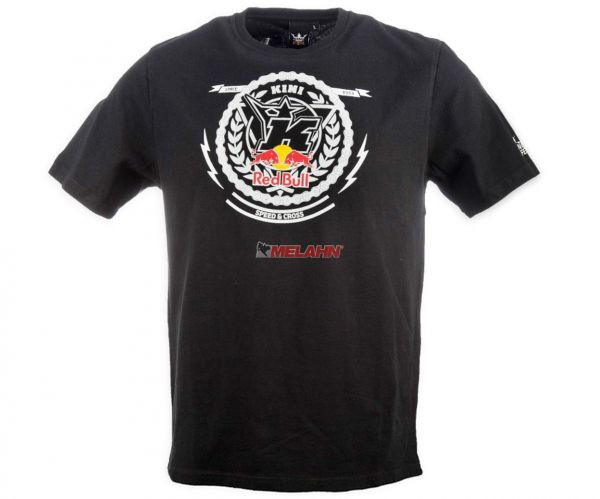 KINI-Red Bull T-Shirt: Crest, schwarz
