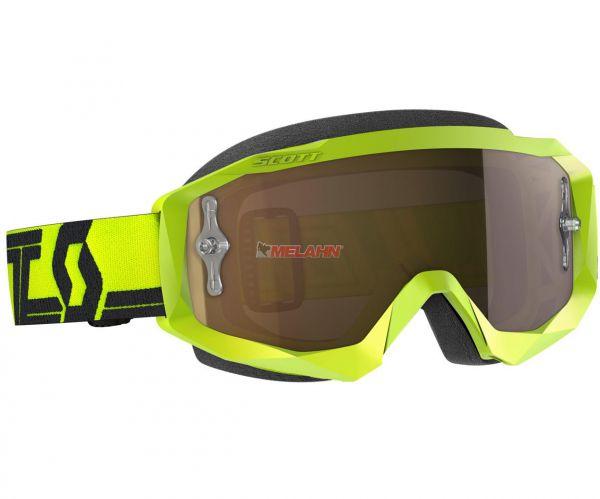 SCOTT Brille: Hustle X MX, gelb/schwarz, gold verspiegelt