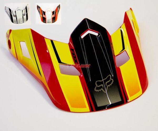 FOX Helmschirm: V2 Visor (2014) Race, rot/gelb