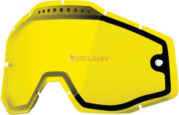 100% Doppelglas, gelb