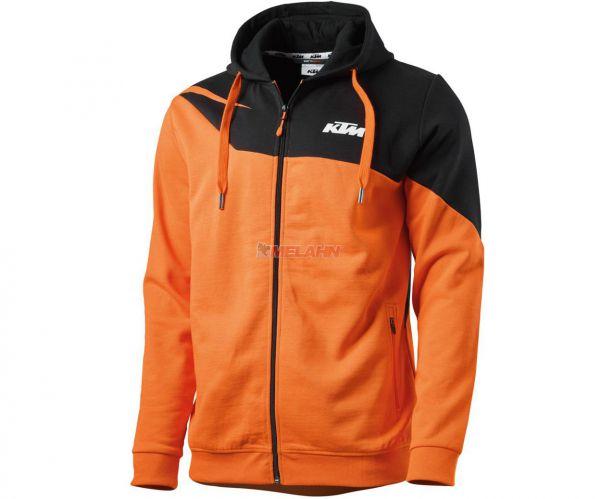 KTM Zip-Hoody: Radical, grau/orange