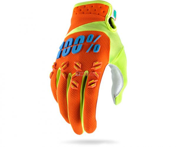 100% Handschuh: Airmatic, orange/neon-gelb