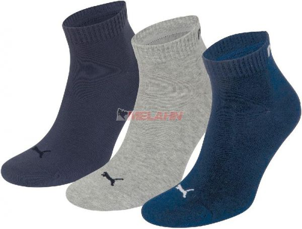 PUMA Socke (3er Pack): Unisex Quarter, navy/grau/blau
