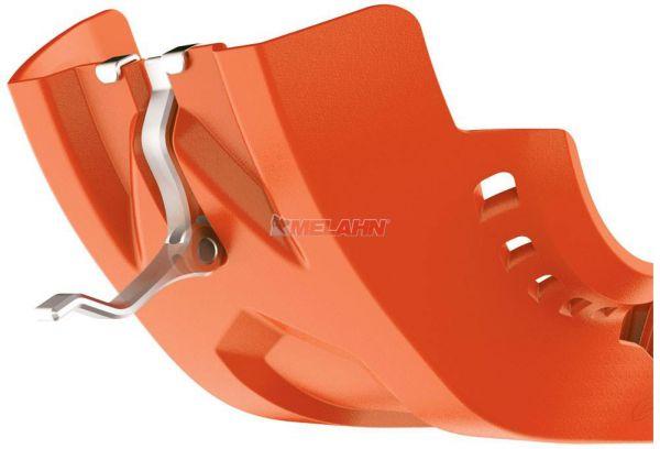 POLISPORT Kunststoff-Motorschutz kurz 250/300 EXC/SX 06-16, orange