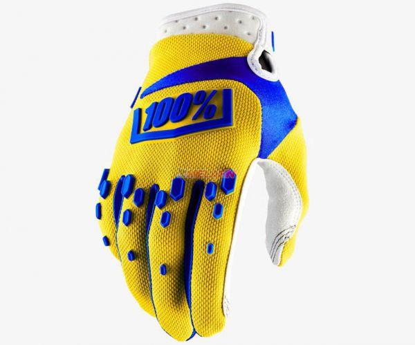100% Kids Handschuh: Airmatic, gelb/blau