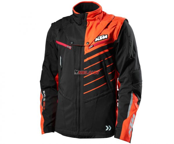 KTM Jacke: Racetech NB, schwarz/orange
