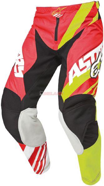ALPINESTARS Hose: Racer, rot/neon-gelb