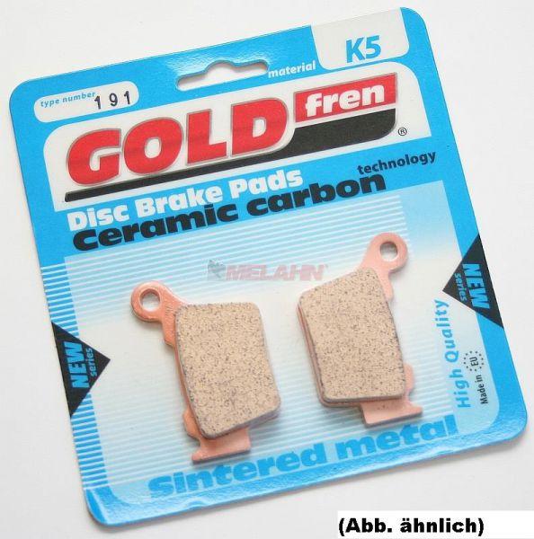 GOLDFREN Sinter-Bremsbeläge 185 K5, vorne/hinten, SX65/85