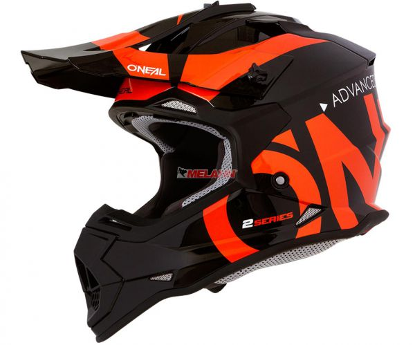 ONEAL Kids Helm: 2Series Slick, orange/schwarz