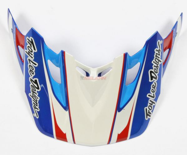 TROY LEE DESIGNS Helmschirm: Visor SE2 Tremor, blau