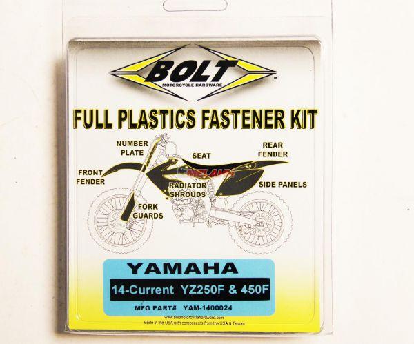 BOLT Schraubenkit Plastikteile YZF 250 14-18 / 450 14-17