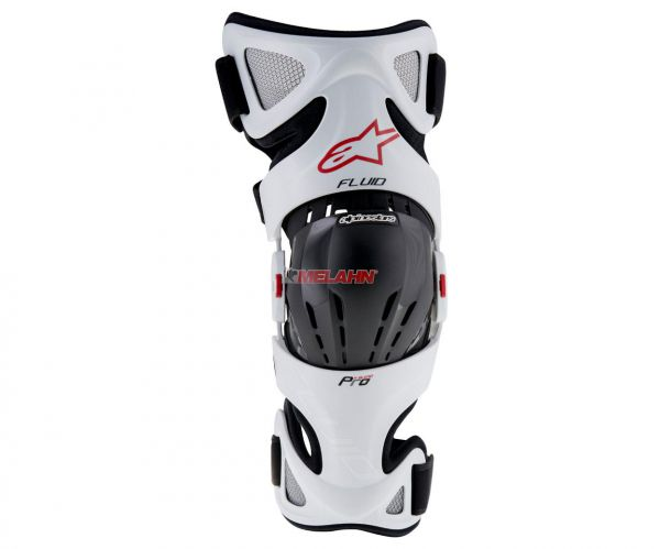 ALPINESTARS Knee-Brace (Paar): Fluid Pro, weiß