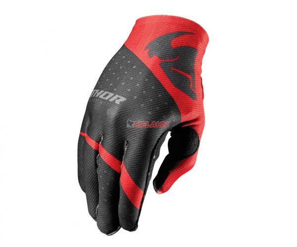 THOR Handschuh: Invert Rhythm, schwarz/rot