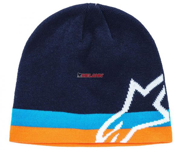 ALPINESTARS Beanie: Corp Speedster, navy/orange/weiß