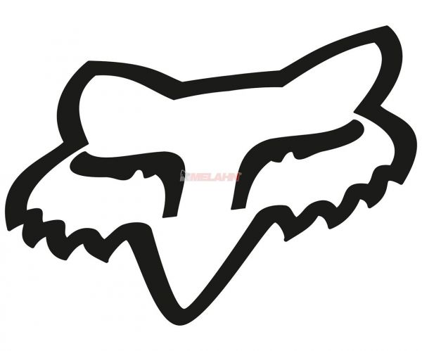 FOX TDC-Aufkleber: Head 46 cm, schwarz