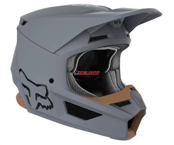FOX Helm: V1 Matte, matt grau