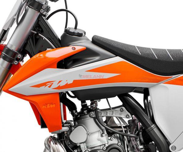KTM Spoiler (Paar) mit Dekor SX 2020, orange/weiß