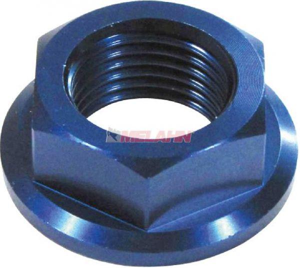 ZAP Aluminium-Achsmutter vorne: CR/CRF 02-, YZ 02-, YZF 02-, blau
