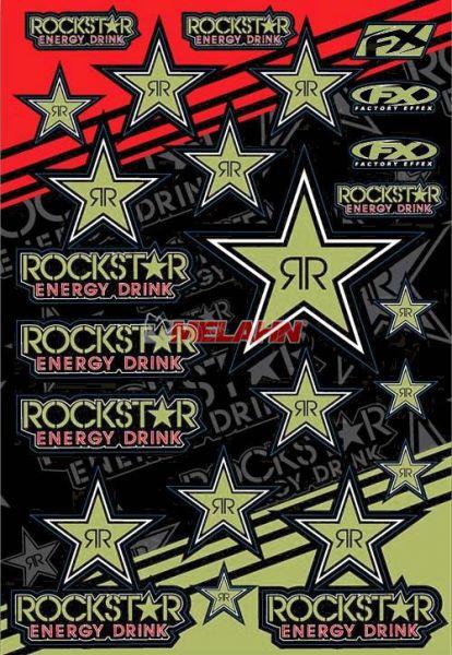 FX Aufkleberkit Rockstar Energy, gold reflektierend