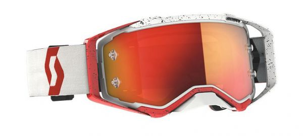 SCOTT Prospect Goggle Motocross MTB MX Enduro Cross Brille rot-weiß orange verspiegelt