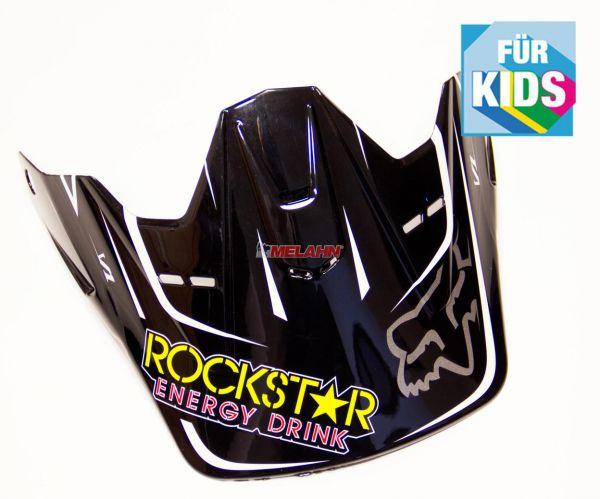FOX Kids Helmschirm: V1 Rockstar Visor, schwarz