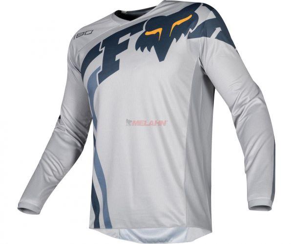 FOX Jersey: 180 Cota, hellgrau/navy/orange
