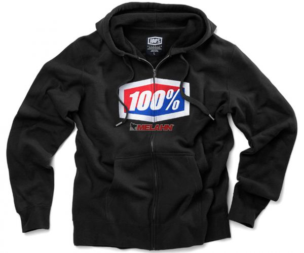 100% Zip-Hoody: Official, schwarz
