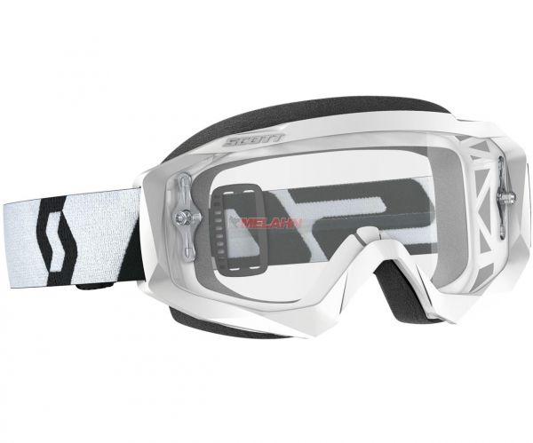 SCOTT Brille: Hustle X MX, weiß/schwarz, klares Glas