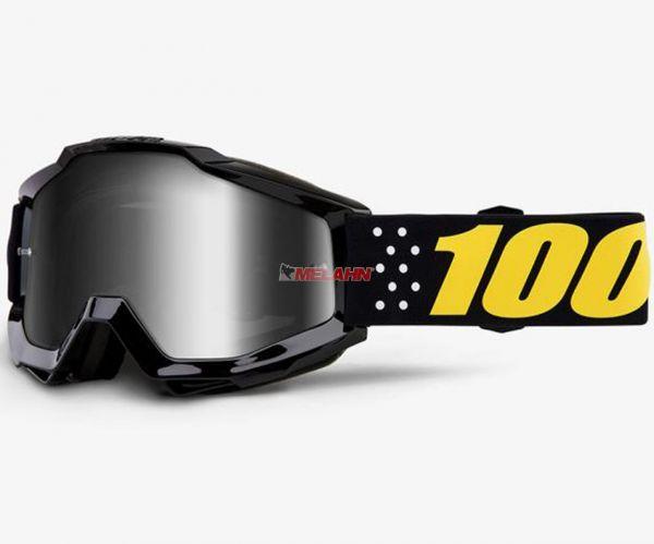 100% Kids Brille: Pistol, schwarz/gelb