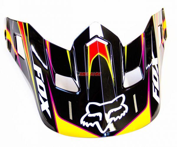 FOX Helmschirm: V2 Race Visor, rot/gelb