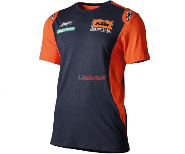 KTM T-Shirt: Replica Team, blau/orange