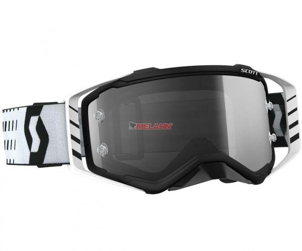 SCOTT Brille: Prospect Sand, schwarz/weiß, graues Glas selbsttönend