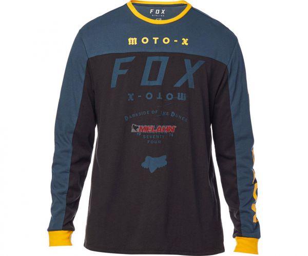FOX Langarmshirt: FCTRY Airline, blau