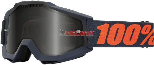 100% Brille: Accuri Sand Gunmetal, grau/orange