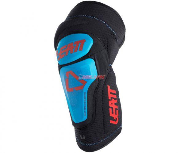 LEATT Knieprotektor (Paar): 3DF 6.0, schwarz/blau/rot