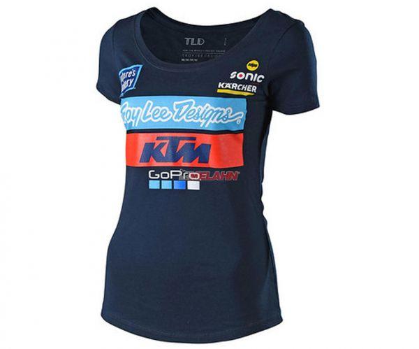 TROY LEE DESIGNS Girls T-Shirt: KTM Team, navy