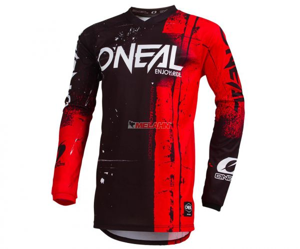 ONEAL Jersey: Element SHRED, rot/schwarz