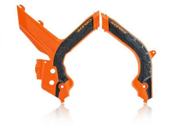 ACERBIS Rahmenschützer (Paar): X-Grip KTM SX 2019-, orange/schwarz