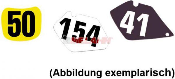 BLACKBIRD Startnummernuntergrund YZ 125/250 02-05, schwarz