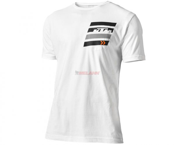 KTM T-Shirt: Pure Pocket, weiß