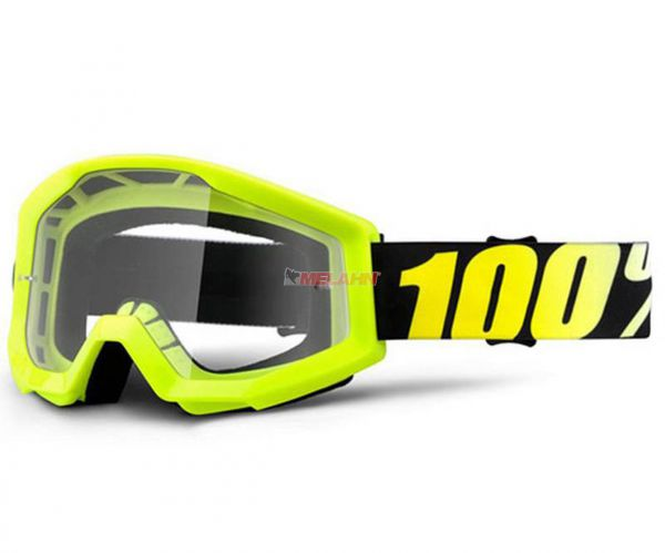 100% Kids Brille: Strata Neon Yellow, neon